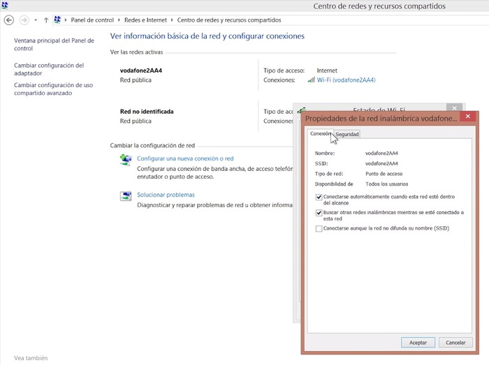 Ver clave WIFI en Windows 10