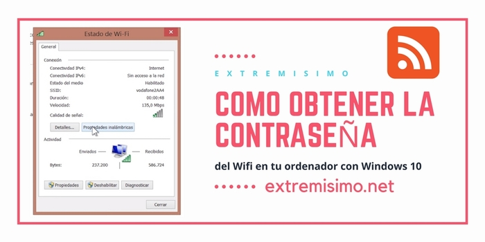 Ver contraseña WIFI en Windows 10