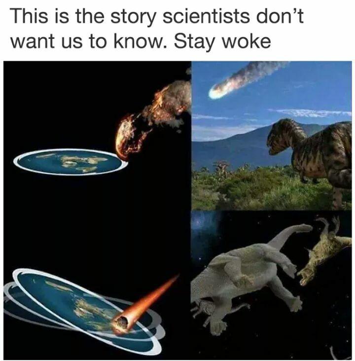 dinosaurios tierra plana