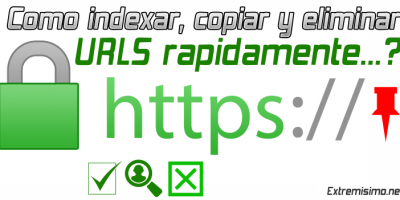 indexar copiar y eliminar urls de google