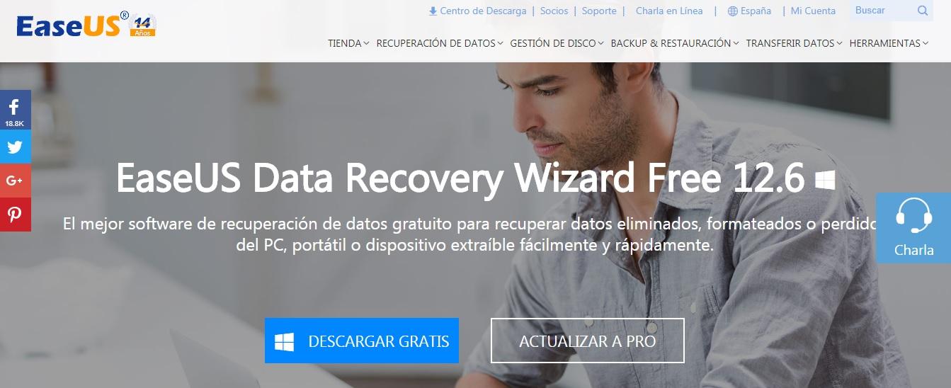 EaseUS recuperacion de datos