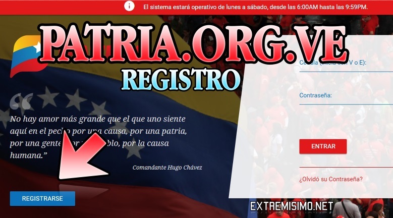 registro en patria.org.ve