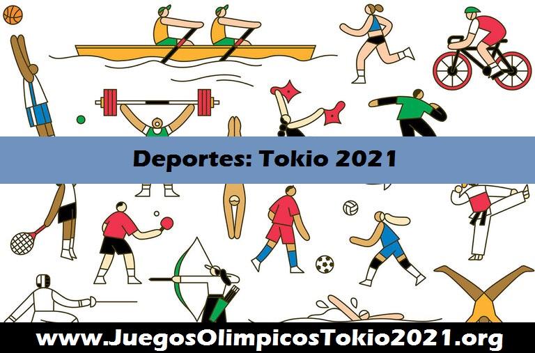 Deportes y disciplinas Juegos Olímpicos Tokio 2021