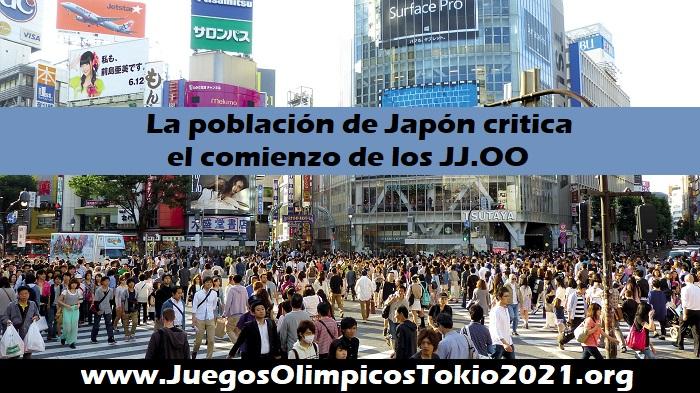 La población de Japón se opone a los Juegos Olímpicos Tokio 2021