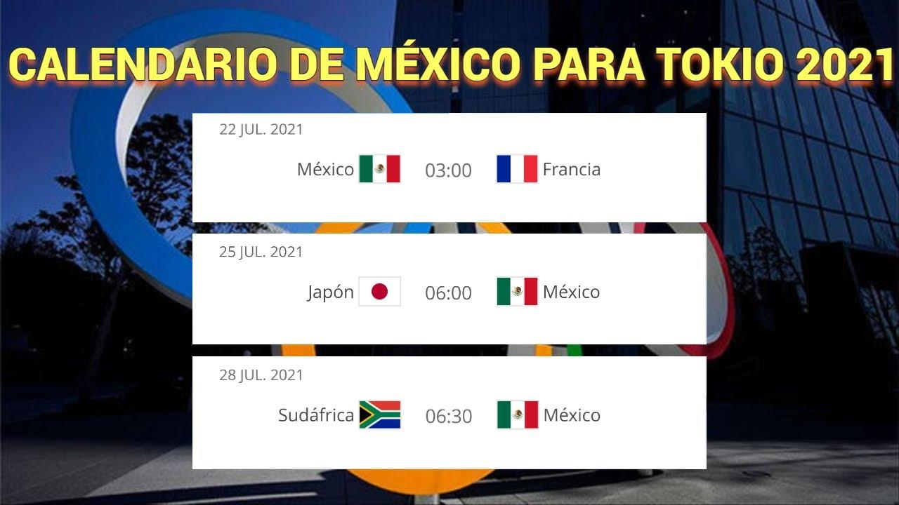 Partidos de la selección mexicana en los Juegos Olímpicos 2020: Tokio 2021