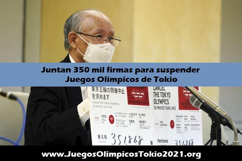 Petición para suspender los Juegos Olímpicos 2021