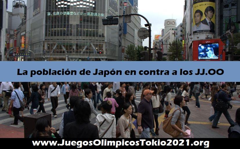 Población de Japón en contra a los Juegos Olímpicos Tokio 2021