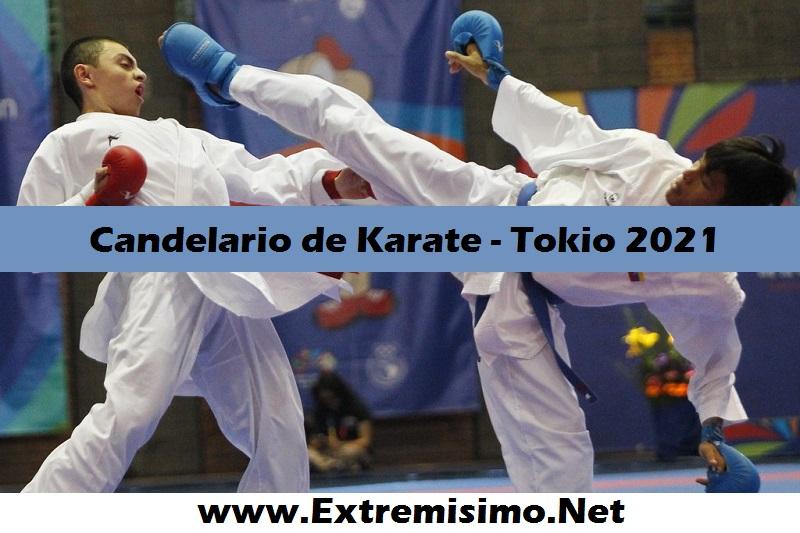 Calendario de Karate Juegos Olímpicos Tokio 2021