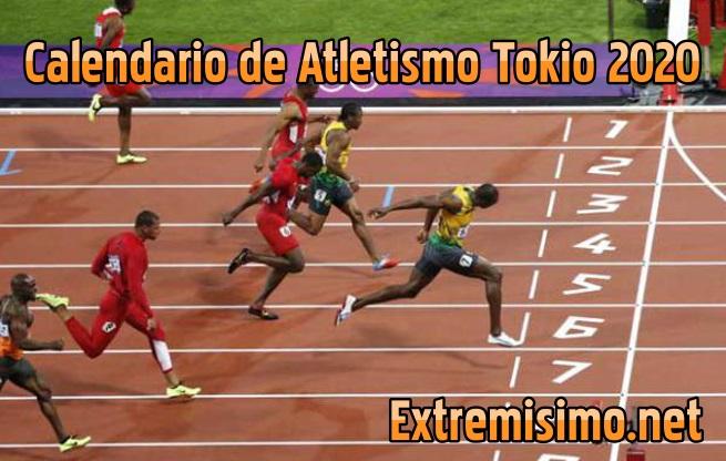 Calendario de atletismo Juegos Olímpicos Tokio 2020