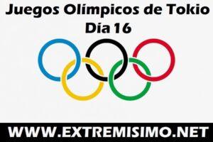 Juegos Olímpicos de Tokio 2021 día 16