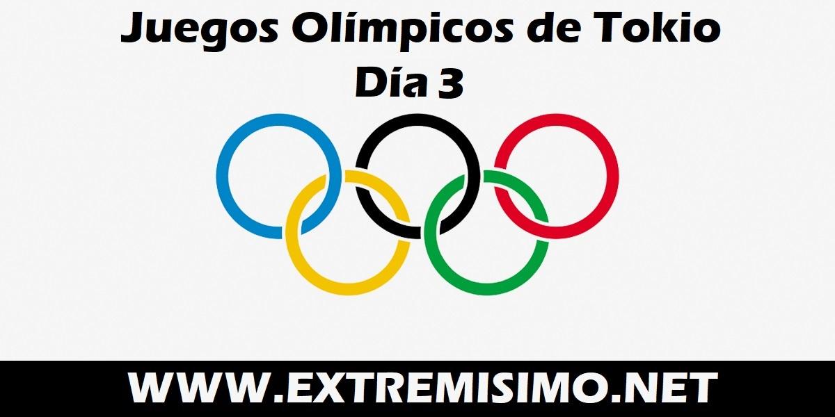 Juegos Olímpicos de Tokio 2021 día 3