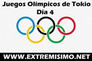 Juegos Olímpicos de Tokio 2021 día 4