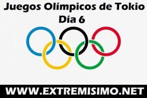 Juegos Olímpicos de Tokio 2021 día 6