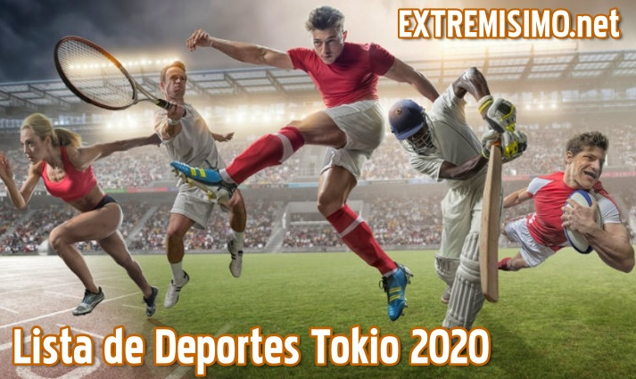 Lista de deportes tokio 2020