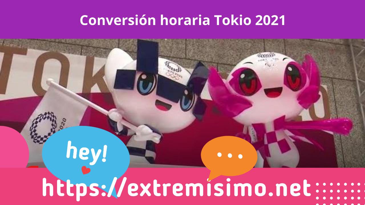 Conversión horaria Tokio 2021