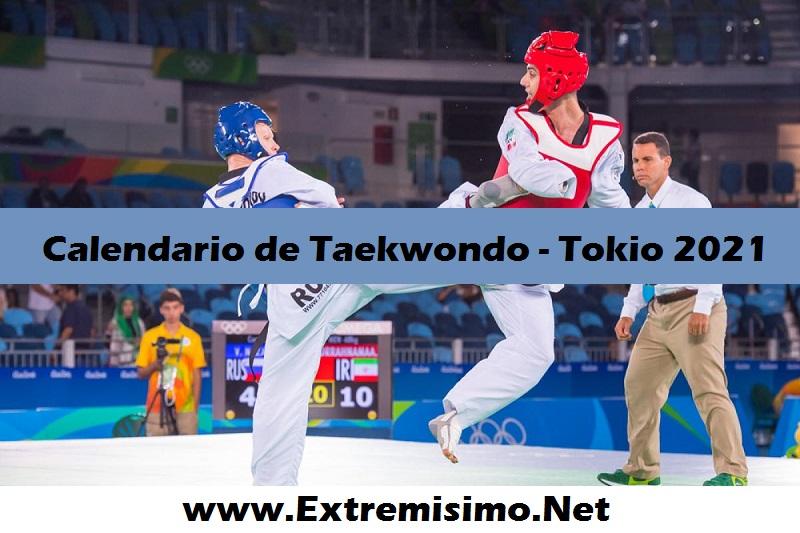 Tokio 2020 Calendario de Taekwondo Juegos Olímpicos Tokio 2021