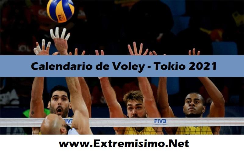 Tokio 2020 Calendario de Voley Juegos Olímpicos Tokio 2021