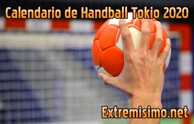 calendario balonmano handball tokio 2020